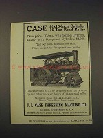 1910 Case 8 x 10-inch Cyclinder 10-Ton Road Roller Ad