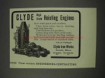 1910 Clyde Iron Works Ad - High Grade Hoisting Engines