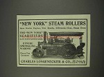 1910 Charles Longenecker New York Steam Rollers Ad