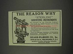 1910 Iszard-Warren Sterling Surveying Instruments Ad - The Reason
