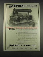 1911 Ingersoll-Rand Imperial Duplex Air Compressors Ad