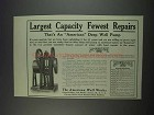 1911 The American Well Works Ad - Largest Capacity
