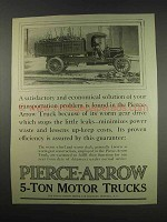 1913 Pierce-Arrow 5-Ton Motor Trucks Ad