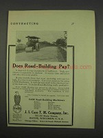 1913 J.I. Case Road Building Machines Ad
