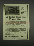 1913 Kelly-Springfield Road Roller Ad - Proved Itself