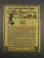 1916 International Harvester Lily Separator Ad
