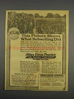 1916 Atlas Farm Powder Explosives Ad - Subsoiling
