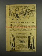 1916 B.V.D. Underwear Ad - Pa's Got His On