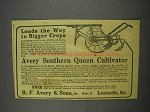 1916 B.F. Avery Southern Queen Cultivator Ad