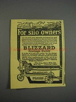 1916 Blizzard Ensilage Cutter Ad - For Silo Owners