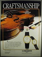 1983 Longines 21852 & 12781 Watch Ad - Craftsmanship