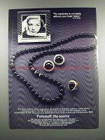 1983 Fortunoff Black Onyx Necklace & Earrings Ad