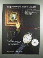 1983 Breguet BA 3000 and BA 8110 Watch Ad