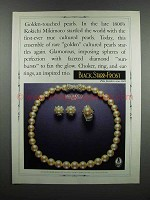 1983 Black Starr & Frost Mikimoto Golden Pearls Ad