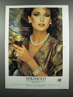 1983 Mikimoto Pearl Jewelry Ad - Ring, Necklace,