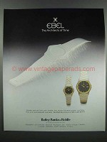 1983 Ebel Watches Ad - Architects of Time