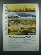 1983 South Africa Tourism Ad - Why It's Part of Africa