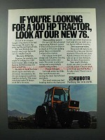 1983 Kubota M7950 Tractor Ad - If You're Looking For