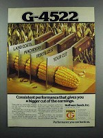 1983 Funk's G-4522 Seed Ad - Consistent Performance