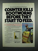 1983 Cyanamid Counter 15-G Soil Insecticide Ad