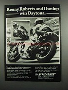 1983 Dunlop Motorcycle Tires Ad - Kenny Roberts