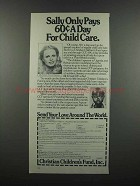 1983 Christian Children's Fund Ad - Sally Struthers - Child Care