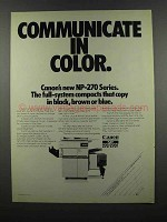 1983 Canon NP-270 Series Copiers Ad - Communicate