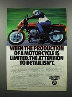 1983 BMW R65LS Motorcycle Ad - Production Limited