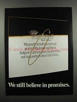 1983 Whirlpool Appliances Ad - Believe in Promises