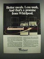 1983 Whirlpool Ovens, Cooktops and Microwaves Ad