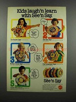 1983 Mattel See 'n Say Ad - Kids Laugh'n Learn