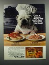 1983 Carnation Mighty Dog Food Ad - Take it From Me