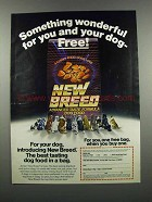 1983 New Breed Dog Food Ad - Something Wonderful