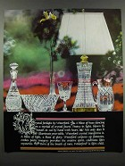 1983 Waterford Crystal Ad - Firelight