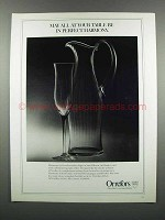 1983 Orrefors Harmony Fluted Champagne and Pitcher Ad