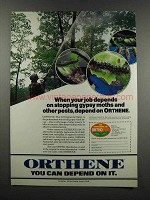 1983 Ortho Orthene Ad - Gypsy Moths