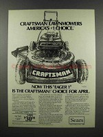 1983 Sears Craftsman Eager-1 20-inch Lawnmower Ad