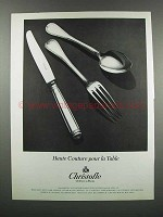 1983 Christofle Malmaison Pattern Silverware Ad
