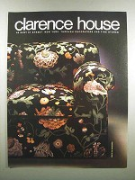 1983 Clarence House Fabric Ad - Route Du Mandarin