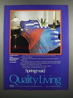 1983 Springmaid Color Splicing Linens Ad