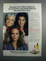 1983 Mary Kay Skin Care Products Ad - Skin Different