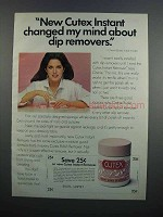 1983 Cutex Instant Sponge Dip Remover Ad - Changed Mind