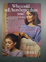 1983 Avon Cosmetics Ad - Who Could Sell Better