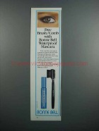 1983 Bonne Bell Waterproof Mascara Ad