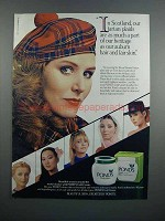 1983 Pond's Cold Cream Ad - Scotland Tartan Plaids