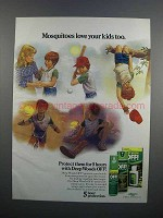 1983 Deep Woods OFF! Ad - Mosquitoes Love Kids