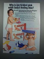 1983 Kleenex Huggies Diapers Ad - Jan Tickled Pink