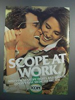 1983 Scope Mouth Wash Ad - At Work