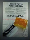 1983 Neutrogena Soap Ad - Best Way to Wash Your Face
