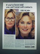 1983 Bausch & Lomb Soft Contact Lenses Ad - Ask Again